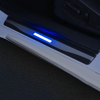 Car Scuff Plate Door Exterior Outer Sill Trim Welcome Pedal Original LED Pedal Car Styling 4Pcs/Set For Honda Accord 10th 2018