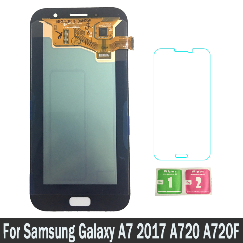 High Quality LCDs For Samsung Galaxy A7 2017 A720M A720Y SM-A720F A720FD A720 Lcd Screen Display Touch Digitizer Assembly PartsHigh Quality LCDs For Samsung Galaxy A7 2017 A720M A720Y SM-A720F A720FD A720 Lcd Screen Display Touch Digitizer Assembly Parts