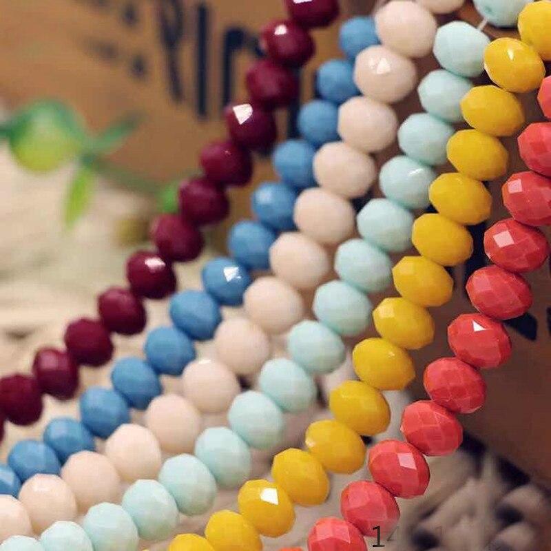 Бусины из кристаллов BEAUCHAMP 4*3 мм, Круглые граненые разноцветные ювелирные изделия, сережки, браслет, ожерелье, аксессуары