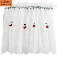 White Lace Tulle Half Short Door Curtains Cherry Princess Decoration Home Cheap Good Quality