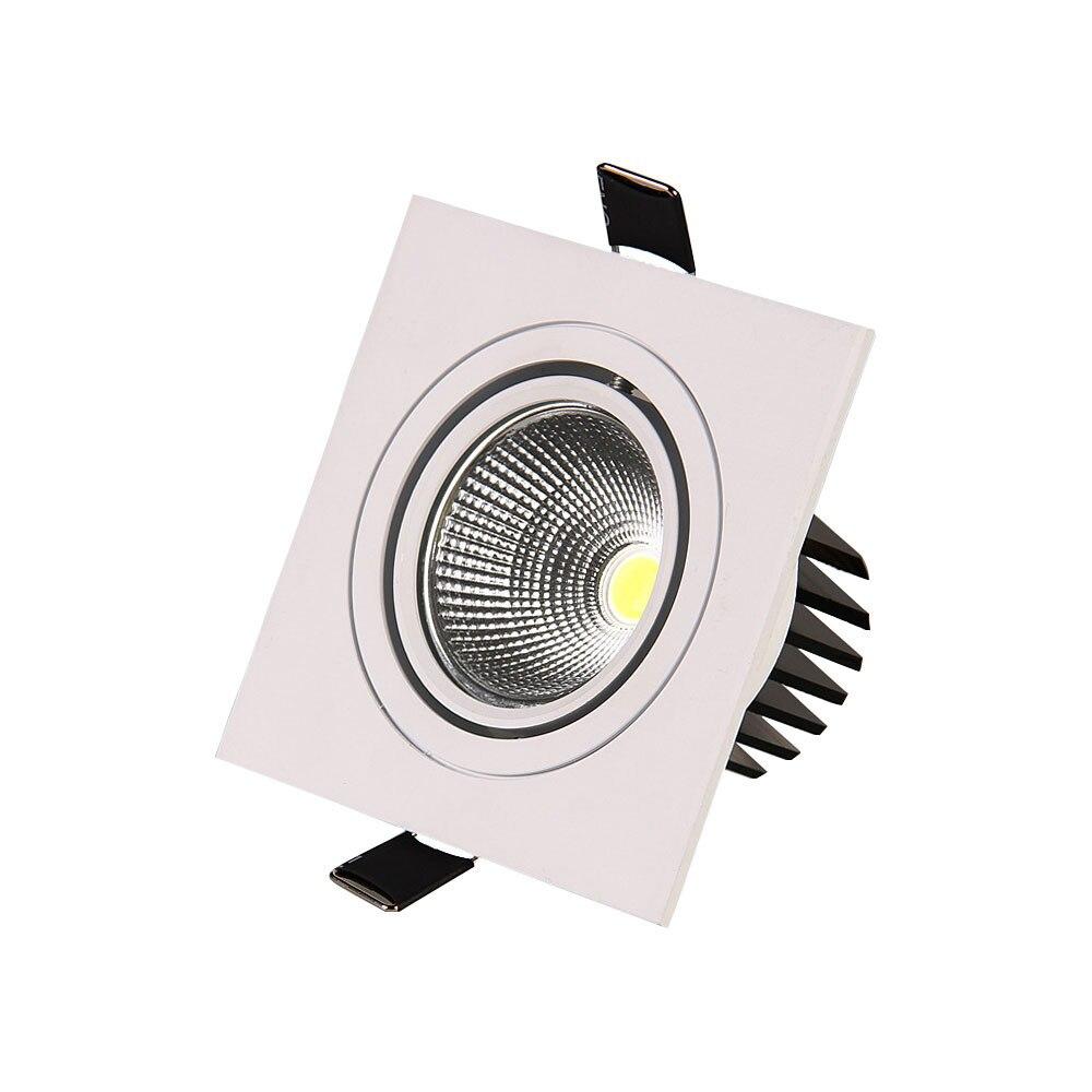 10 шт. 5 Вт 7 Вт 9 Вт 12 Вт LED Подпушка Light 110 В 220 В Spot LED Подпушка огни Оптовая COB LED Spot встраиваемые Подпушка огни белый квадрат света