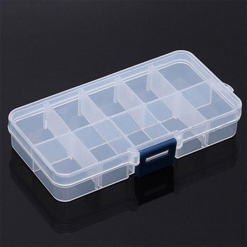 10 сетки отделения Пластик прозрачный организатор Jewel бисера Чехол Контейнер для хранения Box для ювелирных изделий Pill