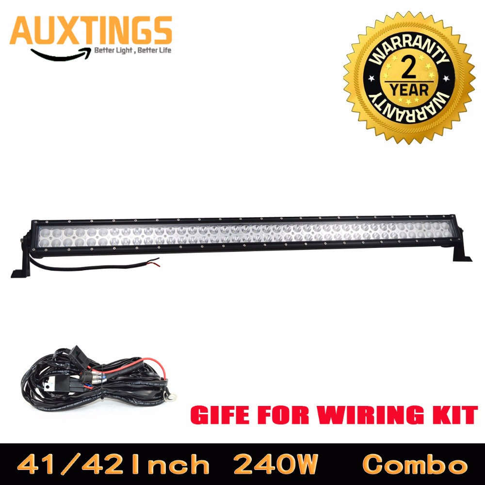 GERMANY STOCK FREE SHIPPING 42inch offroad led work light bar 240w 4x4 double row combo beam with wiring kit for cars atv utv
