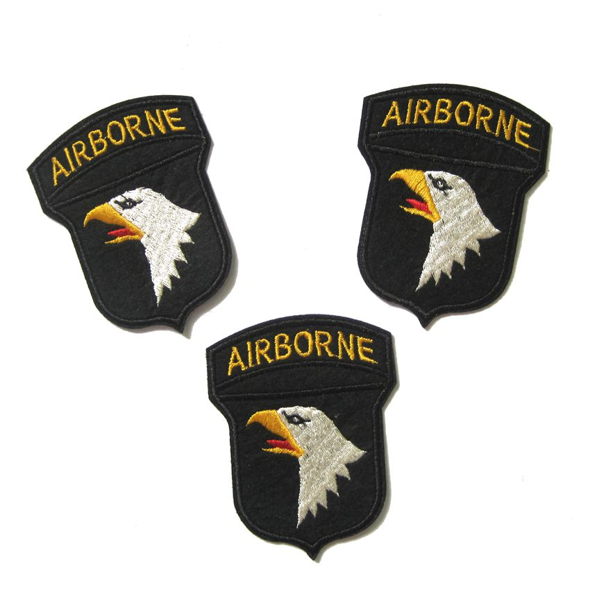 High Quality 4 Inch US Army Airborne Silver Jump Wings Decal Stickers 3 Count
