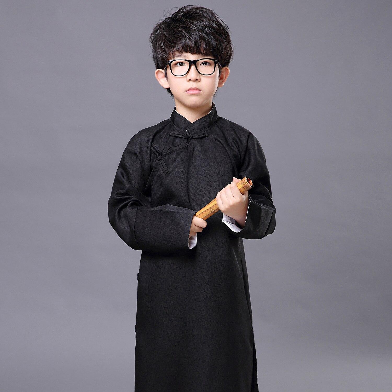 Children crosstalk gown costumes stage long sleeved gown crosstalk ...