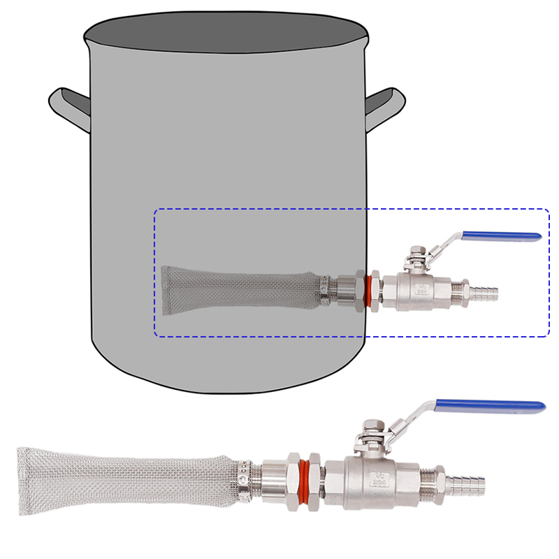 Homebrew Weldless Kettle/Keg Convert Kit W/ 6