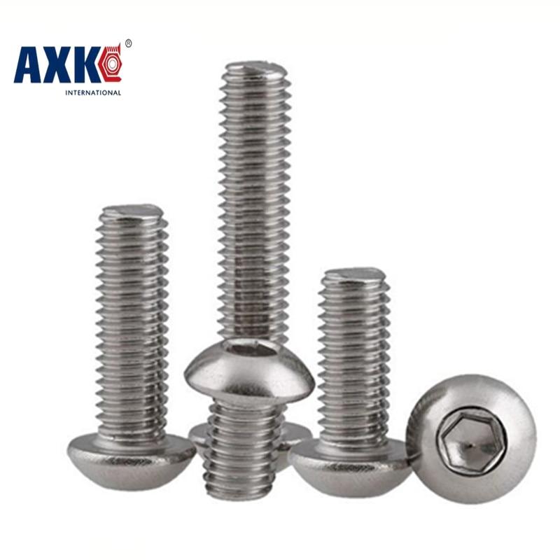 2018 Real Drywall Axk M4 Bolt A2-70 Button Head Socket Screw Sus304 Stainless Steel M4*(5/6/8/10/12/14/16/18/20/25/30/25~80) Mm axk 100pcs gb819 m4 304 stainless steel metric thread flat head cross countersunk head screw m4 6 8 10 12 14 16 18 20 25 80 mm