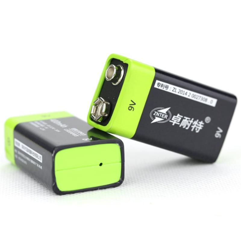 2 PCS ZNTER S19 9 V 400 mAh USB Rechargeable 9 V Lipo Batterie Pour RC Caméra Drone Accessoires