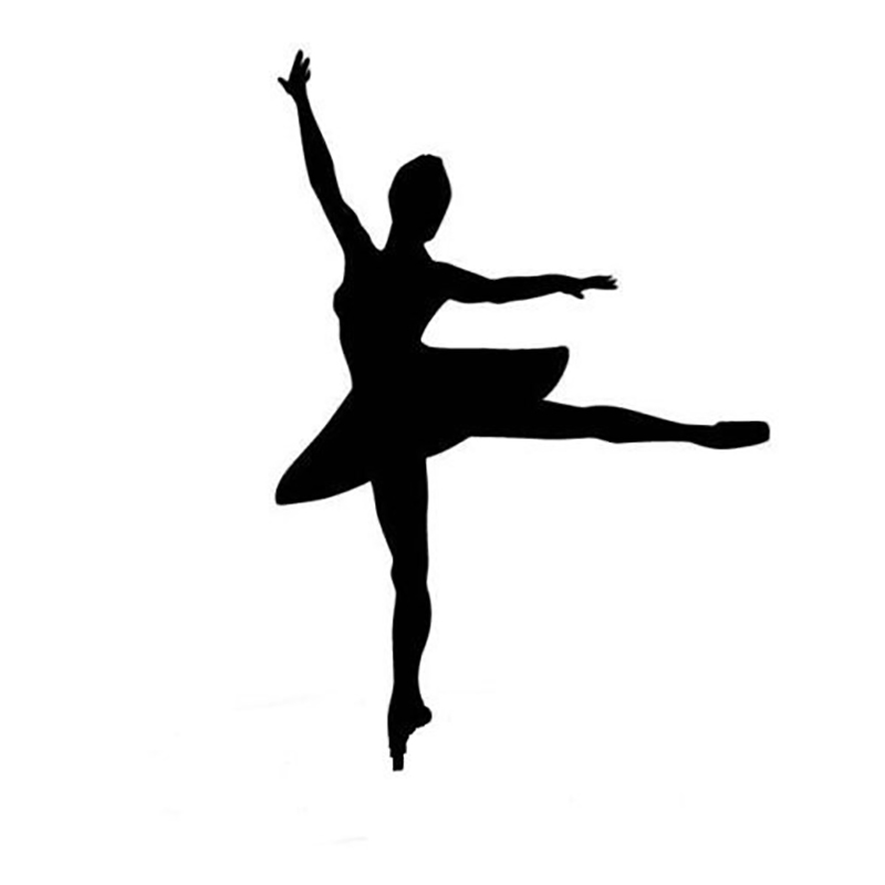 Ballet Sticker Dancing Ballerina Silhouette Window Decal Sticker 15x13cm