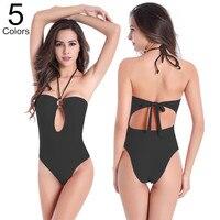 2016 High Waist Women Sexy Swimsuit Summer Slim Verano Roupa De Banho One Piece Bikini Set