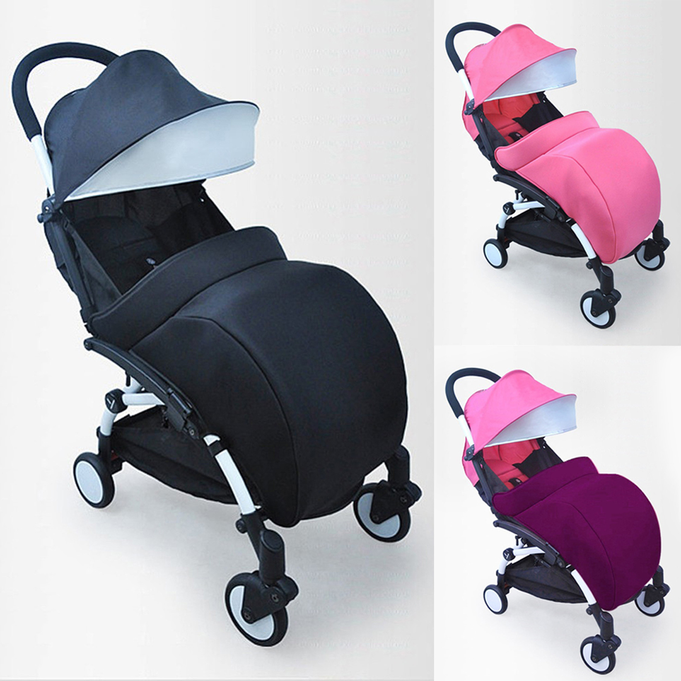 Universal Warm Winter Quilted Stroller Foot Muff Windshield Cover For Babies Soft Warm Safe Foot Muff Baby Stroller Foot Muff