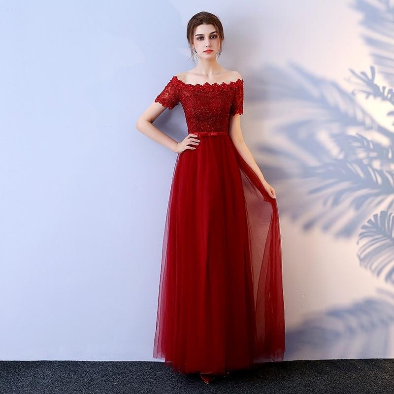Fashion Crimson Evening Party Dresses Long 2018 Sexy Plus Size ... 8f9e263b6e89