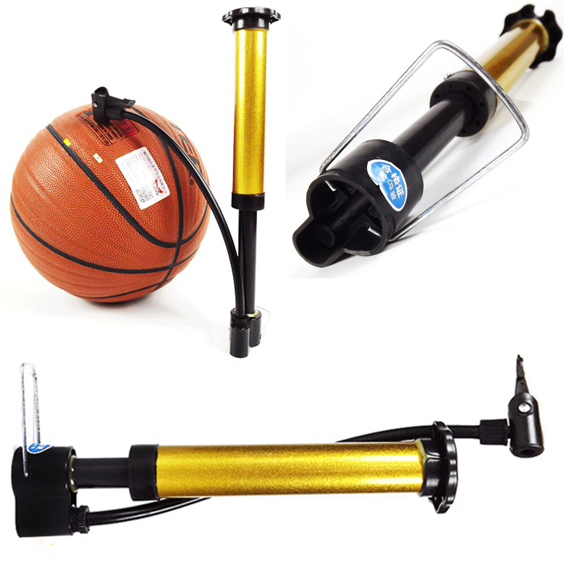 Cycling Basketball Ball Tire Inflator MTB Bike  Mini Bicycle Pump High Pressure