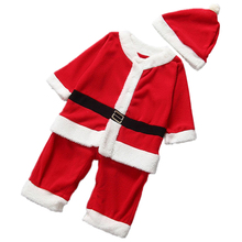 MACH Christmas baby girl clothes baby dresses+hat for newbor