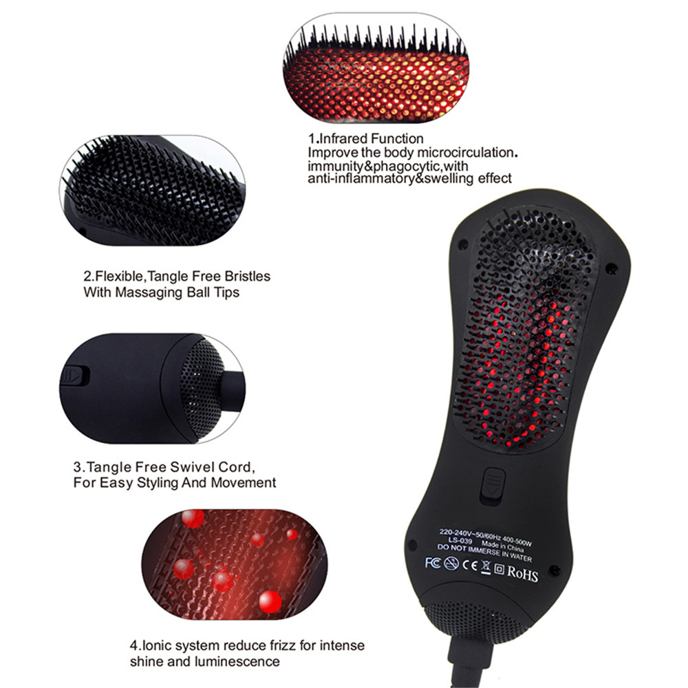 Blower Comb Air Curly Hair Styler Sisir Mini Infrared Dryer Straightener Professional Styling Negative Ionic