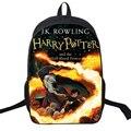 Saco do Desenhador Estilo Preppy Hot Filme Harry Potter Impressão Nylon Mochila Saco Ocasional Livro Escolar Mochila Mochilas Legal Para Adolescentes