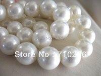 Tridacna shell perle branelli dei monili 16mm rotondi dei monili di modo beads5 stringhe/lotto, 24 beads/string