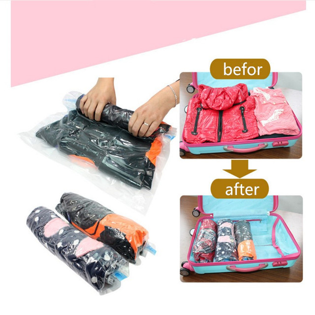 Compression Bag Travel Vacuum Bags For Clothing Storage Clothes