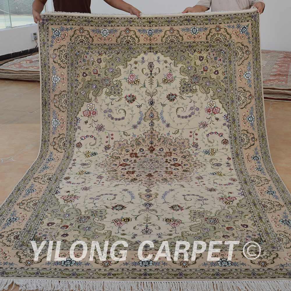 Yilong 6 X9 Handmade Kashmir Wool