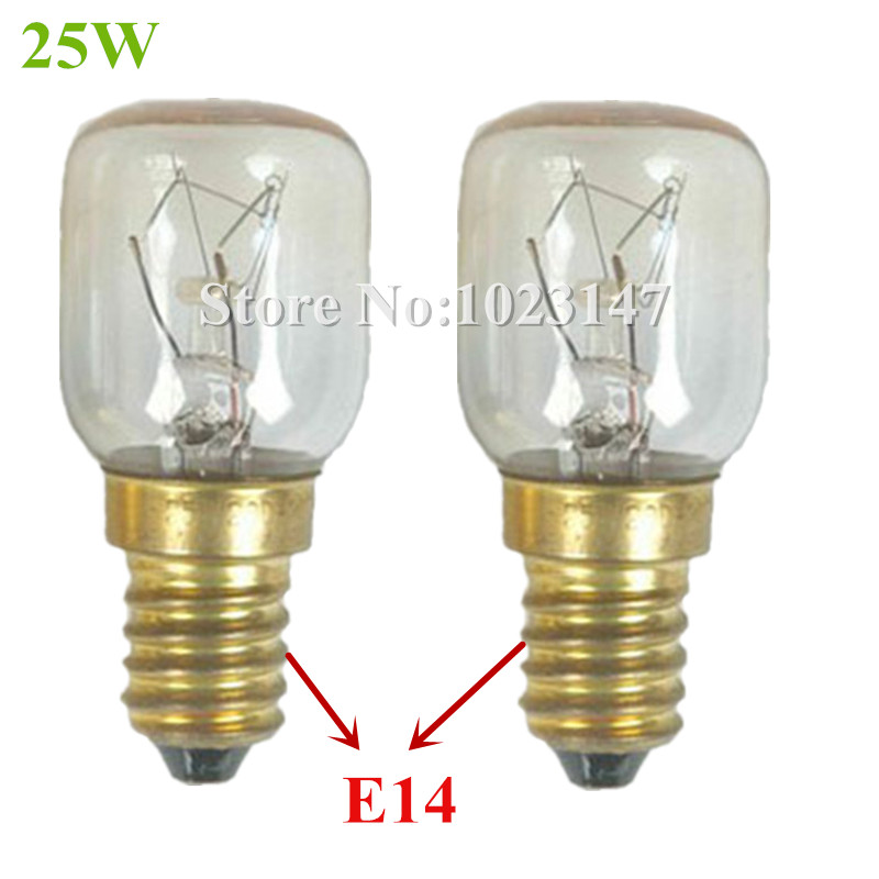2 pieces/lot Microwave Oven Bulb 25w Screw thread 14mm Lamp for Galanz,Midea etc. Free Shipping to Europe !