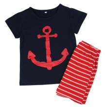 2016 Baby Boy Clothes Set Cotton Clothing Pirate Ship Newborn Toddler Infant Kids T-shirt Tops+Pants Outfits Set Sport Suits 2T