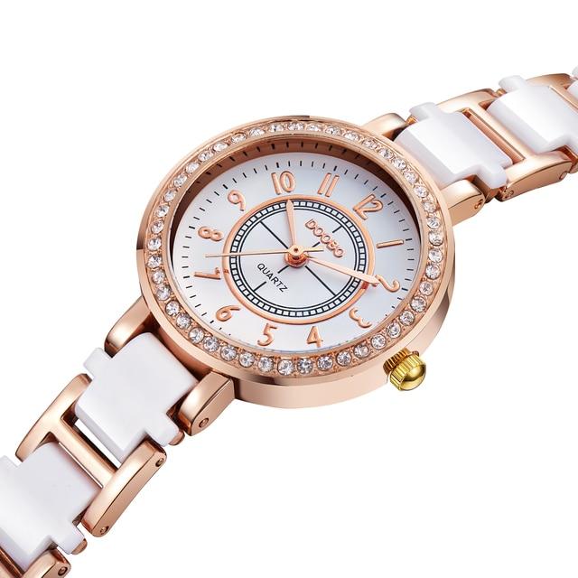 517a1de19a8 Top marca de luxo assistir mulheres pequenas senhoras pulseira de relógios  de quartzo-relógio moda