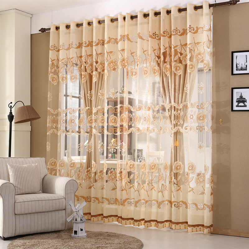 Aliexpress.com : Buy European Luxury Window Curtains For Living Room Royal Sheer  Curtains For Bedroom Elegent Tulle And Curtains For Children From Reliable  ... Part 57