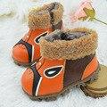 2015 nuevo invierno del bebé los niños botas primeros caminante zapatos del niño zapatos lindos botas para la nieve bebé zapatos de bebé de cuero