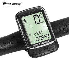 WEST BIKING Bike Computer Bicycle Wireless Stopwatch 5 Languages Waterproof Bike Computer Odometer Speedometer Cycling Computer