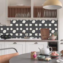 Nordic simulation Mosaic brick sticker living room bedroom wallpaper wall kitchen oilproof bathroom waterproof
