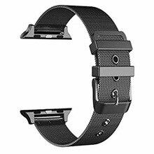 Milanese Boucle Bande Métallique pour Apple Montre 38/42mm Série 1/2/3 En Acier Inoxydable Montre-Bracelet sangle Bracelet Classique Boucle I258.