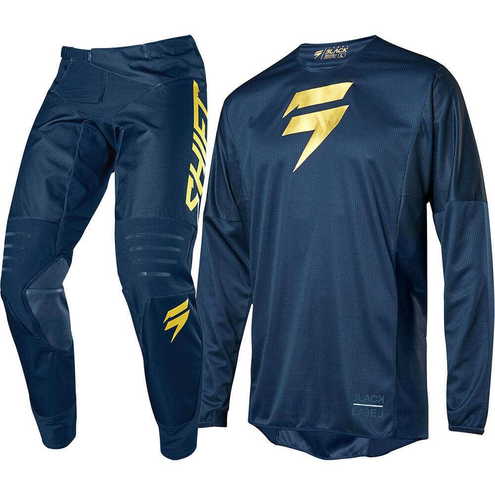 2019 NEW MX LE 3LACK LABEL JERSEY PANTS NAVY GOLD MOTOCROSS GEAR SET Motocross Suit