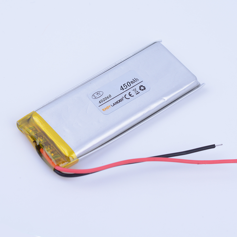 402060 <font><b>3.7V</b></font> <font><b>450mAh</b></font> lithium Polymer Li ion Battery For bluetooth headset Bracelet Wrist Watch pen GPS PSP PDA MP3 MP4 MP5 image