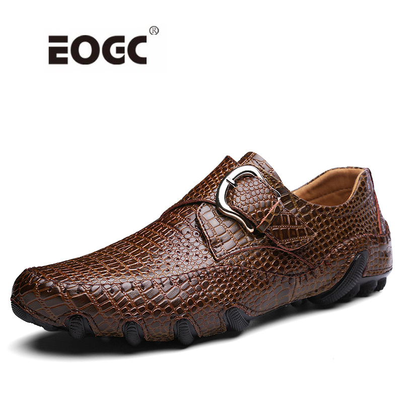 Two Style Men Flats Shoes Crocodile Pattern Leather Shoes Men Loafers Octopus Fur Warm Men Driving Casual Shoes loafers men india golden silk weaving pattern crown and leaf design flats velvet shoes men loafers noble temperament