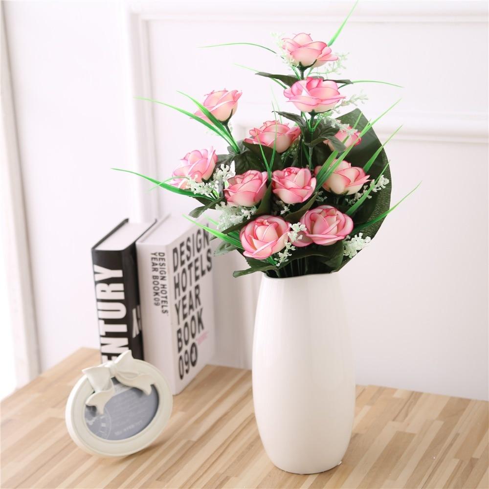 Chocolate Silk Rose Table Centerpieces
