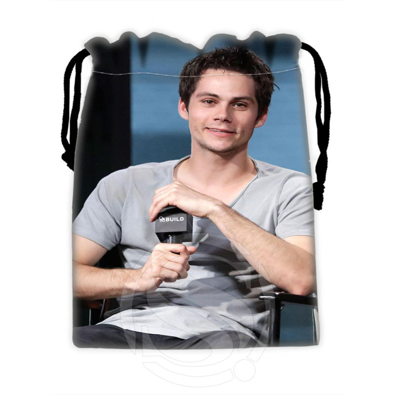 H-P712 Custom Dylan O'brien#11 Drawstring Bags For Mobile Phone Tablet PC Packaging Gift Bags18X22cm SQ00806#H0712