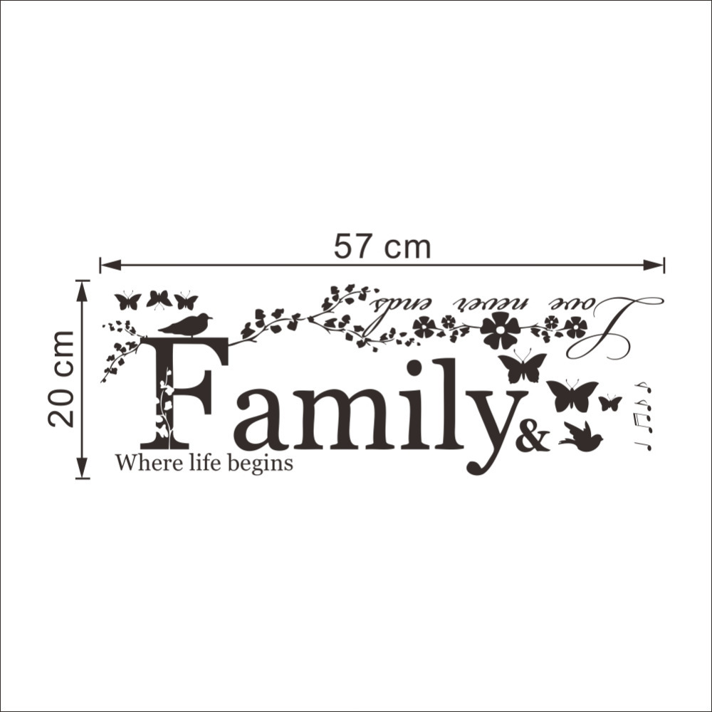 Love Move On Quotes Family Love Never Ends Quote Vinyl Wall Decal Wall Lettering Art