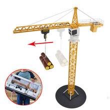 Игрушечный башенный кран с дистанционным управлением, инженерный кран из сплава, инженерный грузовик, вращающийся на 360 градусов, инженерный кран, строительные игрушки