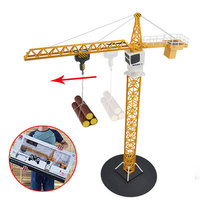 Remote Control Car Tower Crane Toy Alloy Crane Engineering Truck Engineering 360 Degree Rotate Crane Engineer Construction Toys