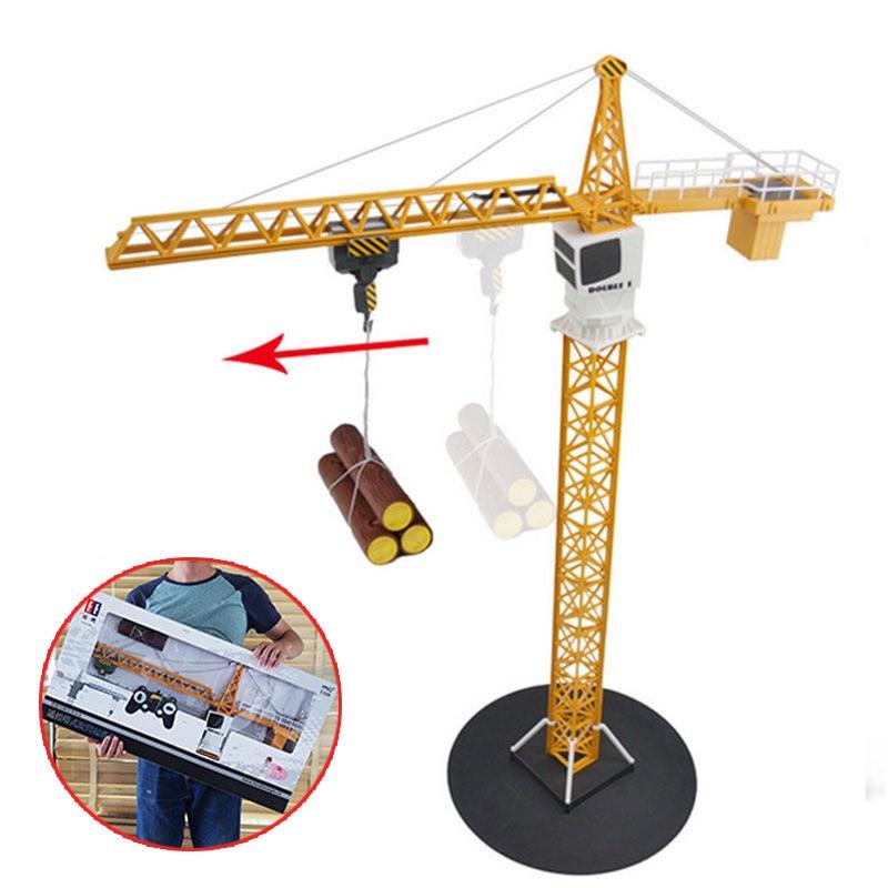 Télécommande voiture tour grue jouet alliage grue ingénierie camion ingénierie 360 degrés rotation grue ingénieur Construction jouets