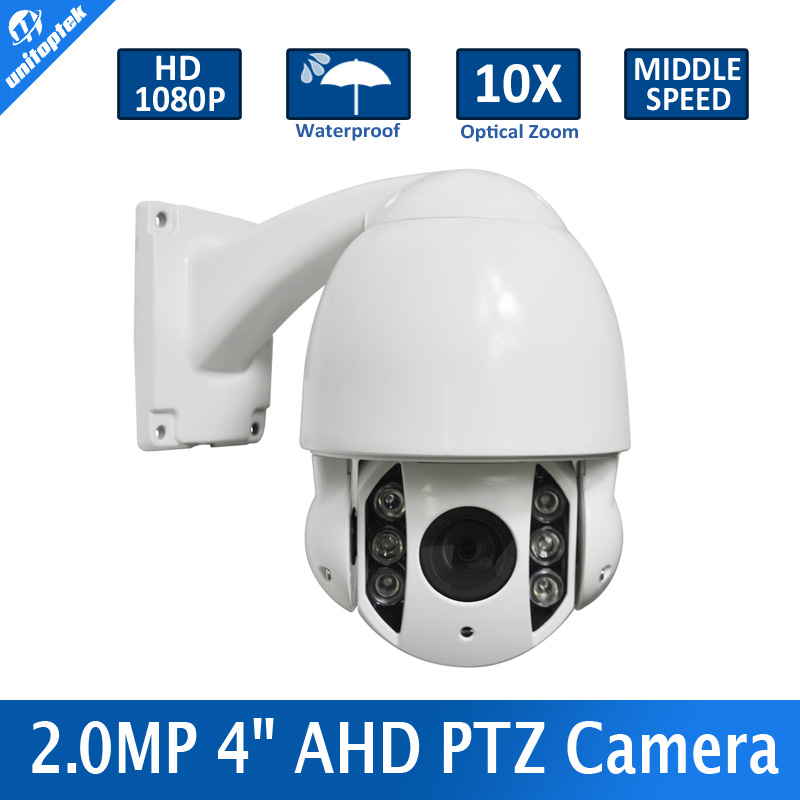 2MP Outdoor Waterproof IP66 5-50mm 10x Optical Zoom CCTV 1080P 4 Inch Mini Middle Speed Dome AHD PTZ Camera Night-vision IR 60M