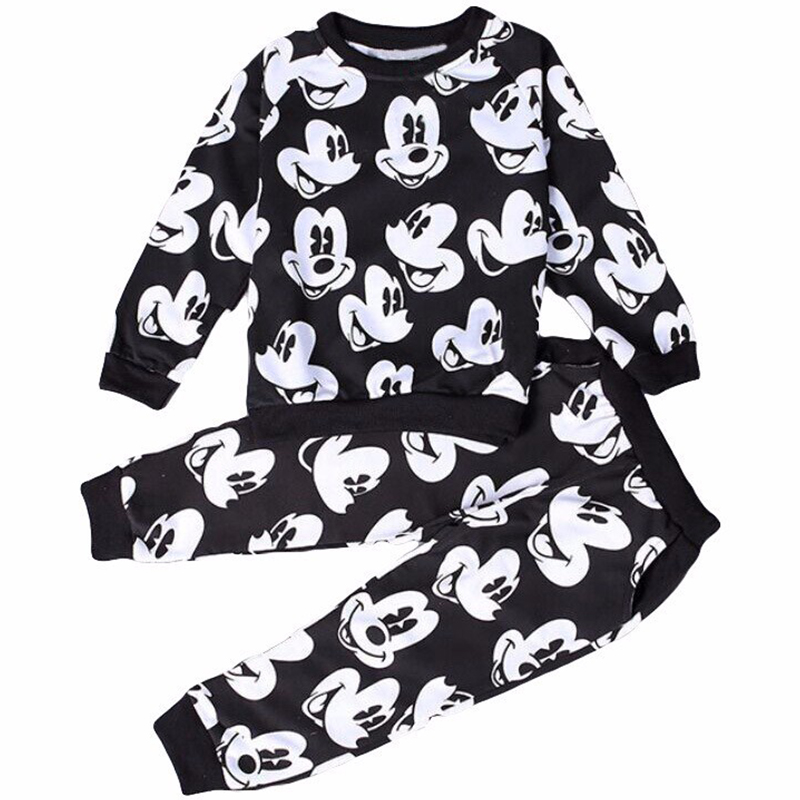 Autumn/Winter Mickey Baby Girls Clothing Sets Children Clothes Kids Cartoon Boy Coats Sweater + Pants Suits Christmas Jerseys ad children s mickey thick sets 2 10 age cotton sweater pants boys girls christmas t shirts trousers kids clothing clothes