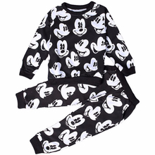 Autumn Winter Mickey Baby Girls Clothing Sets Children Clothes Kids Cartoon Boy Coats Sweater Pants Suits
