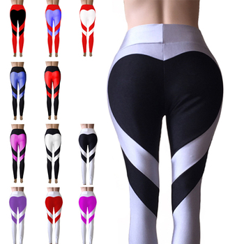 Bohocotol S-XXXL New Ass Love Stitching Leggings Put Hip Elastic Waist Leggins High Waist Stitching Large Size Pants Free Ship 1