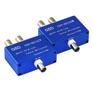 Image 2 - YENI 2CH Ahd Hdtvi Hdcvi 1080 p HD video Multiplexer2 Kanallı Koaksiyel Video Çoklayıcı Hikvision Hdcvi 1080 P 2MP güvenlik kamerası