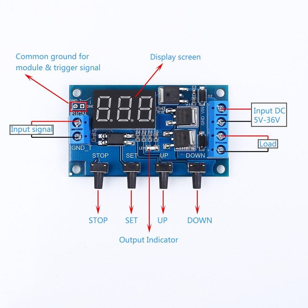 30A Schalter Timer Optocoupler Multifunktion DC 24V Verzögerung Relaismodul Neu