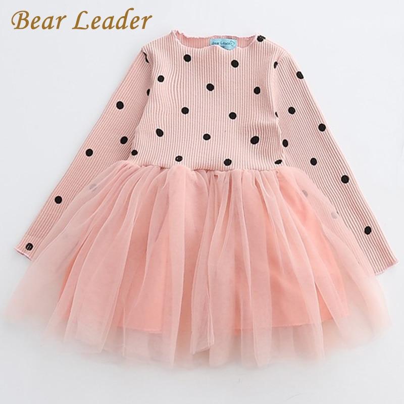 Детское платье для девочки с рисунком медведя платье принцессы 2018 Новое фирменное платье для девочек Детская Костюмы европейский и американский Стиль Обувь для девочек Платья для женщин