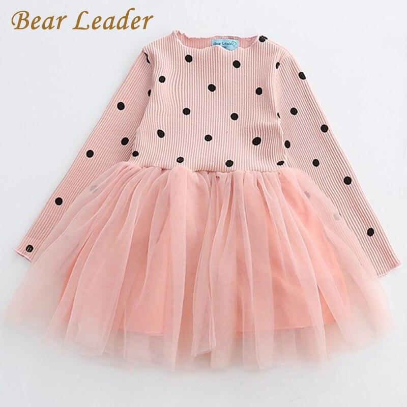 Bärenführer Mädchen Kleid Prinzessin Kleid 2018 Neue Marke Mädchen Kleid Kinder Kleidung Europäischen und Amerikanischen Stil Mädchen Kleider
