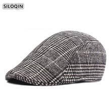 SILOQIN Men Autumn And Winter Keep Warm Cotton Berets Middle-aged Elderly Leisure Tourism Motion Hats Simple Casquette Dad's Hat electric moxa knee pads autumn and winter to keep warm old cold legs men women moxibustion joint inflammation middle aged