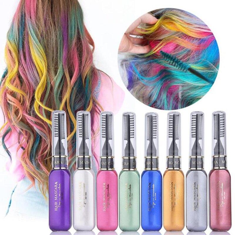 High Quality Fashion Hair Color Cream 13 Colors Temporary Hair Dye Mascara Cream Non-toxic DIY Hair Dye Pen Hair Care